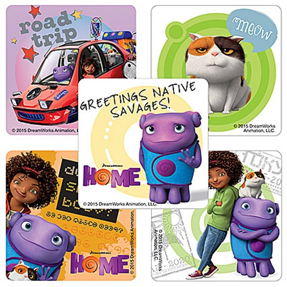 25 DREAMWORKS HOME STICKERS Kids Birthday Party Supplies & Party ...