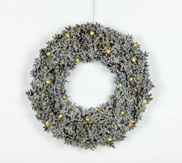 Natural pine cones christmas wreath large front door wreath for Large christmas pine cones