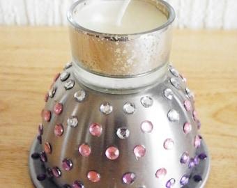 Metal Gem Candle Holder