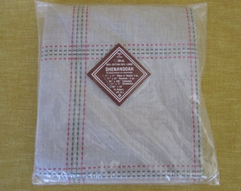 "Shenandoah,afghan 55""x33"",28 ct., grey,cross stitch,embroidery,cotton,linen,fabric"