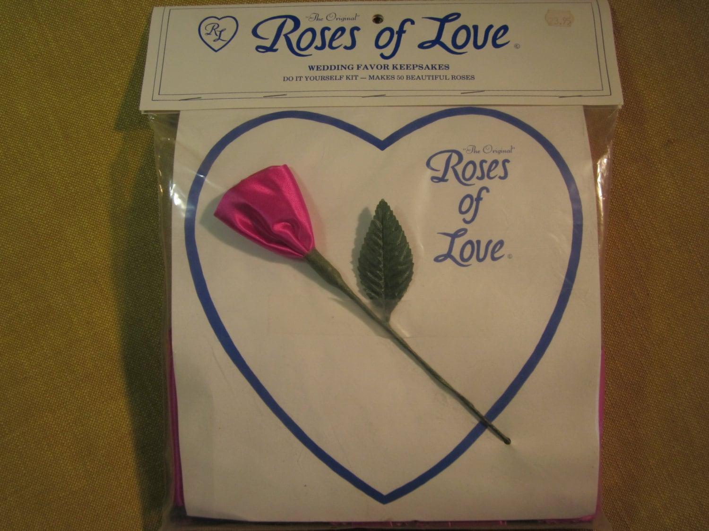 Roses Of Love Wedding Favor Kit 50 Make Yourself Satin