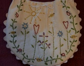 Hand Embroidered Spring Garden Giftbag