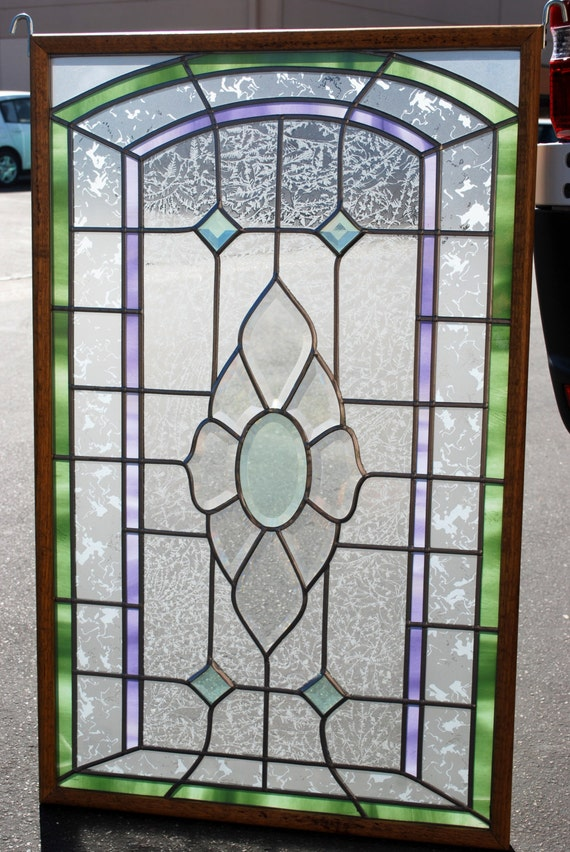 items similar to stained glass overlay in wood frame on etsy