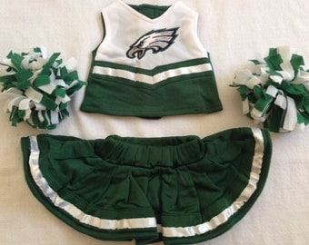 Eagles 18 inch doll cheerleading outfit