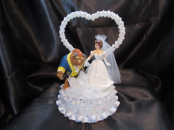 beauty and the beast wedding cake toppers unavailable listing on etsy 11251