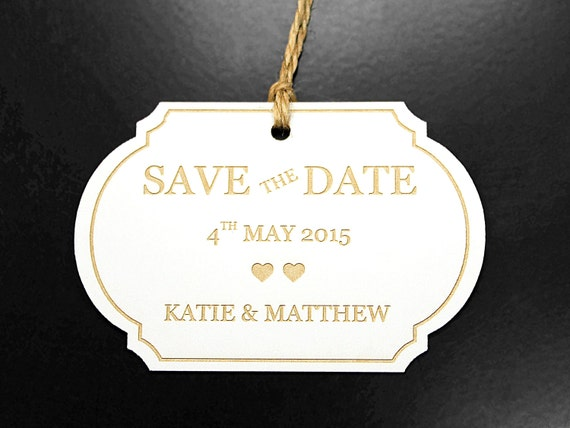 Save The Date Tags - 600gsm Thick Card / Gift Tags / Wedding Tags / Paper Tags / Luggage Tags / Personalize Tags / Birthday / Anniversary.