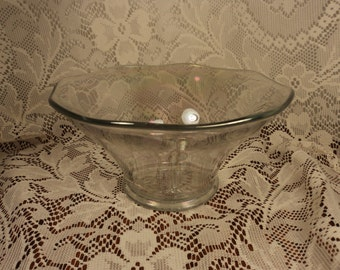 Imperial White Carnival Glass Iridescent Centerpiece Bowl