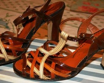 1960's high heeled sandals