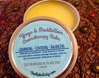 Yoga & Meditation Balm for Grounding Centering Balancing - Made with Organic Ingredients