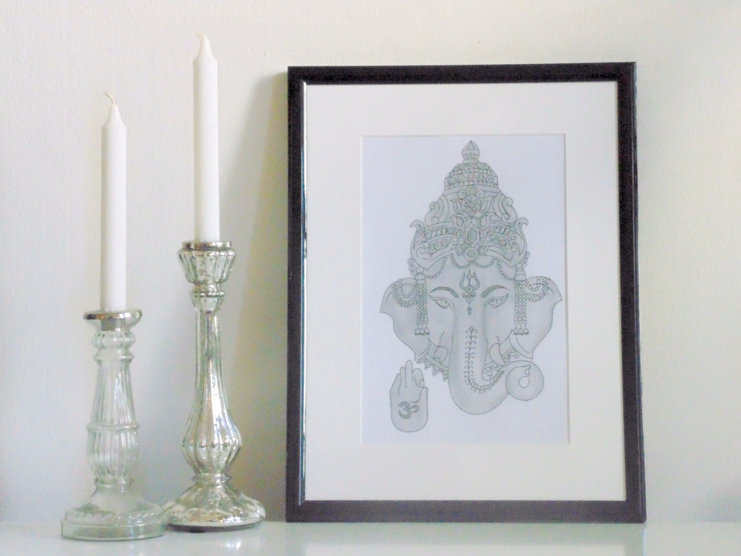Yoga Wall Art yoga art ganesha pencil drawing art yoga wall art
