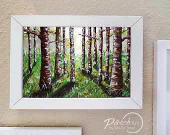 Poster - photo printing, trees, landscape, forest, Brown, green