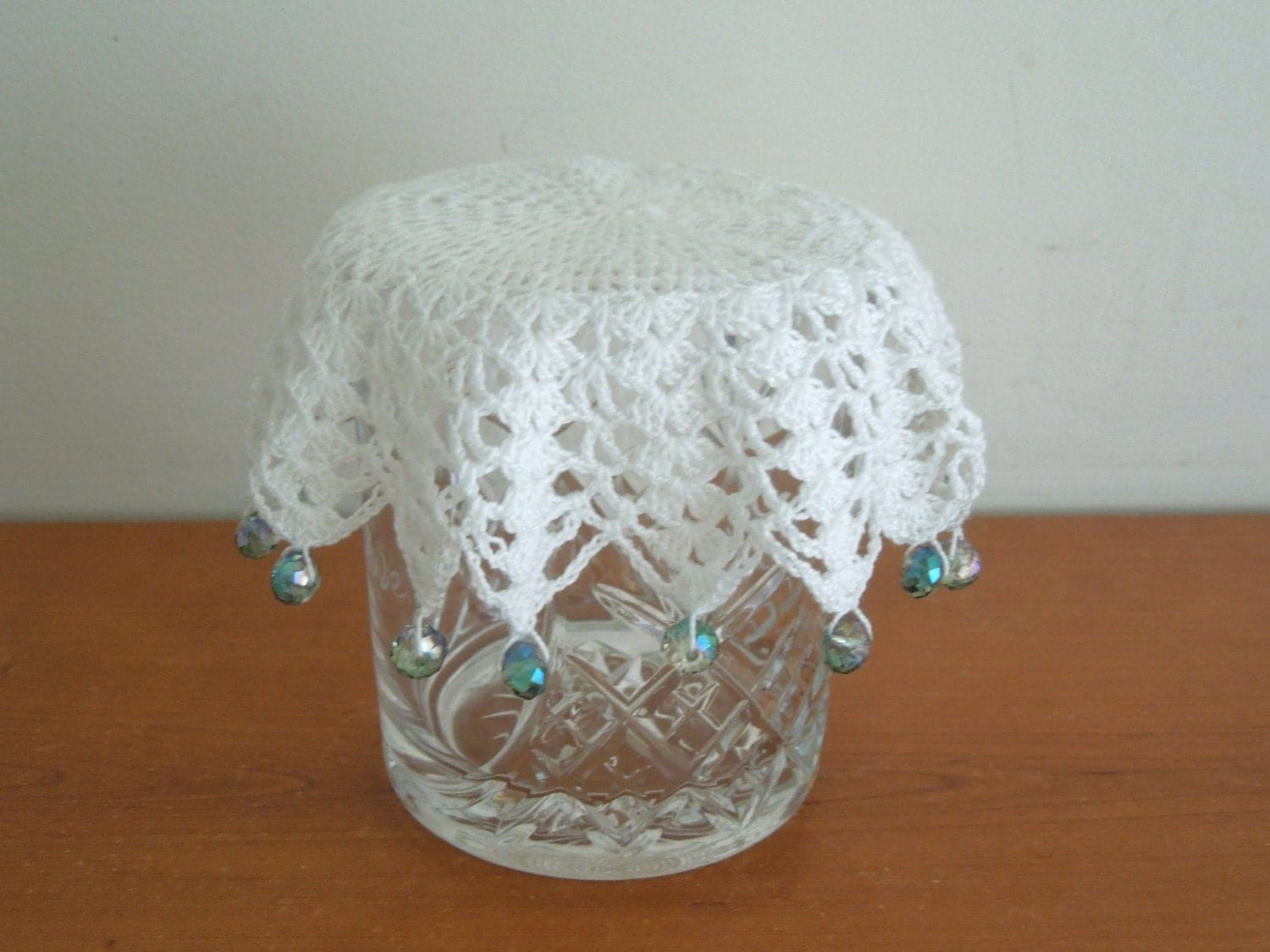 Crochet milk jug cover glass cover pims jug cover or use as
