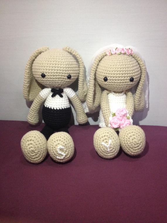 Amigurumi Wedding Bunny Couple