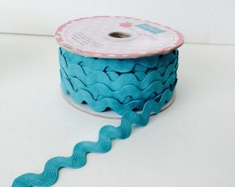 3/4 inch Ric Rac- Teal (5 Yard Bundle) Riley Blake Designs
