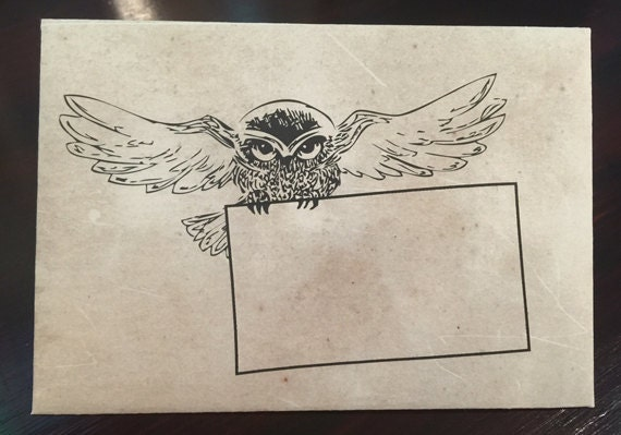 harry potter themed envelope diy printable