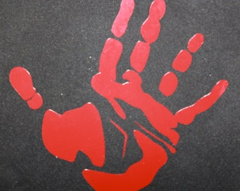 Castiel Handprint Vinyl Decal