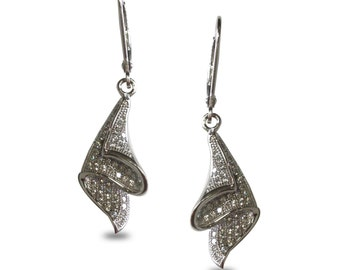 Hermitage Cubic Zirconia and Sterling Silver Earrings