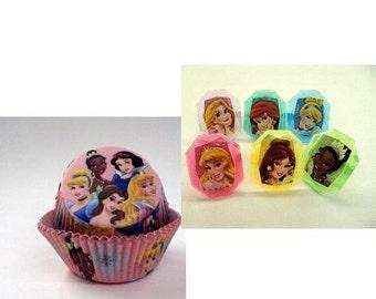 Disney Princess Rings with Disney Princess Baking Cups