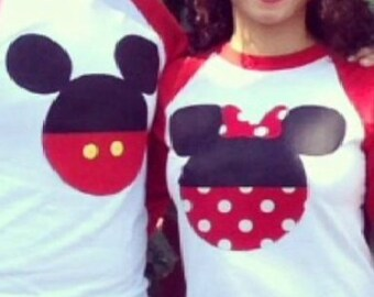 Minnie Mickey Mouse couple shirts