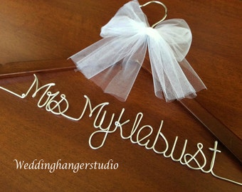 Weekend SALE / Wedding dress Hanger / Name Hanger/ Bride Hanger/Personalized Hanger/Bridal party gift/ Bride Gift,