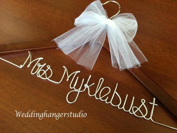 Weekend sale wedding dress hanger name hanger bride for Wedding dress hanger name