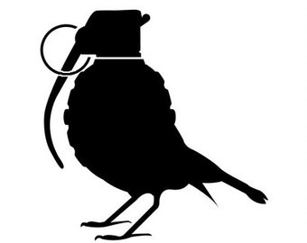 Bird Grenade Vinyl Decal Sticker