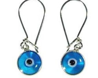 925k silver handmade evil eye erarrings