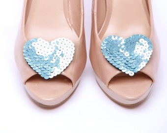 Wild at heart Blue shoe clips