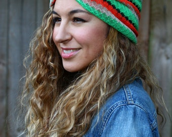 Hair Band Headband Red Orange Green Black Stripes one size twisted centered Hair Accesories Elastic One Size