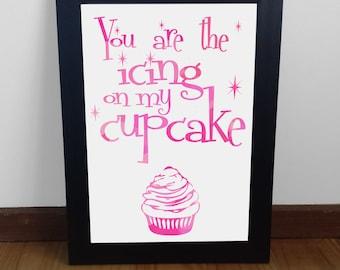 My Cupcake Print poster wall art