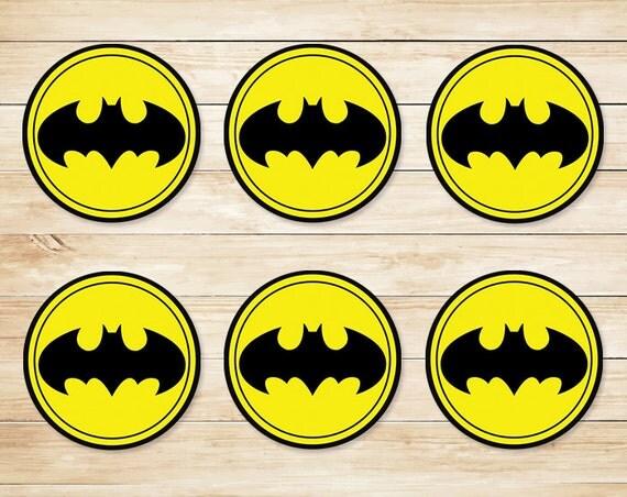 Adorable image with batman cupcake toppers printable