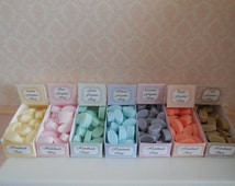 1:12 DOLLHOUSE  Soaps display. Available in lemon, rose, green, wisteria, peach, lavander and cafe.