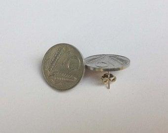 Earrings old coins
