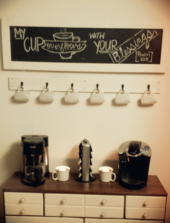 Wall Mount Mug : Wall mount coffee cup mug holder by lumberandlittles