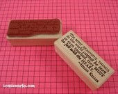 Helen Keller Quote Stamp / Invoke Arts Collage Rubber Stamps