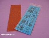 Nature Bits / Invoke Arts Collage Rubber Stamps / Unmounted Stamp Set