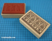 Paisley Windows Stamp / Invoke Arts Collage Rubber Stamps