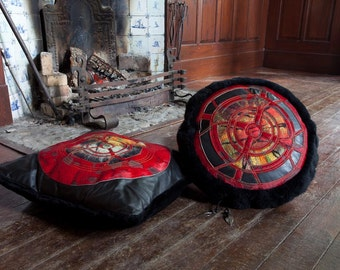 Handmade Leather pillow