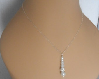 Delicate Bride's necklace and earring set