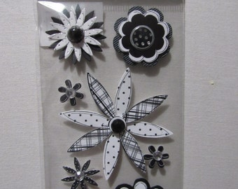Flower Scrapbooking Dimensional Stickers