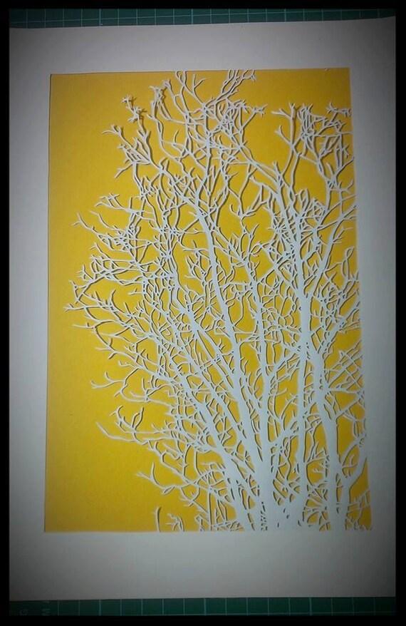 Basket Weaving Nuneaton : Large tree personal use papercutting template pattern