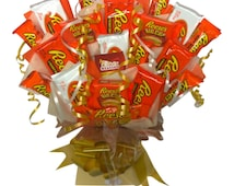 Large Reeses Chocolate Candy Bouquet by Kandy Station - Perfect Gift Hamper