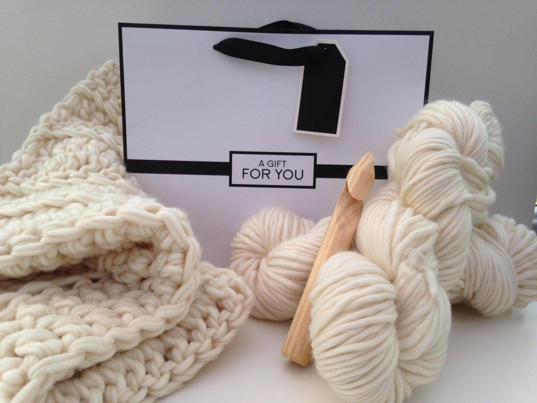 Learn To Crochet Kit Baby Blanket Beginners Diy Crochet Kit