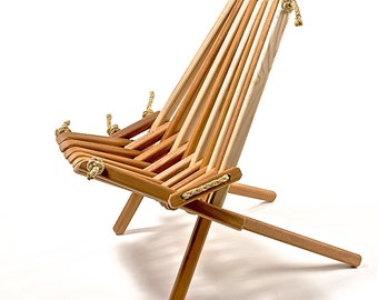 Ash Blend Pioneer Chair/Patio/Deck/Dock/Wood/Folding/Rope/ Chair/Porch/Chair/Furniture/Chic/Sustainable/Adirondack/Belize/Indoor/Outdoor