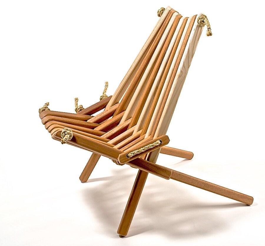 Ash Blend Pioneer Chair Patio Deck Dock Wood Folding Rope