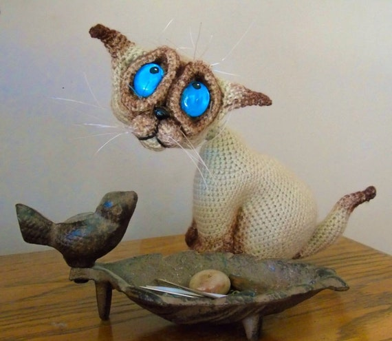 Crochet Amigurumi Cat / Crochet Siamese Cat / by EclecticJ