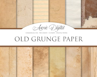 Grunge Digital Paper. Scrapbooking Backgrounds, Old weathered patterns for Commercial Use. Worn, grungy, shabby textures. Clipart Download.