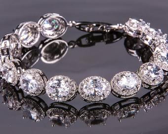 Crystal bracelet, Bridal bracelet, Rhinestone Bracelet, Swarovski Bracelet, Wedding bracelet, Bridal accessories, Prom, Crystal Bracelet b35