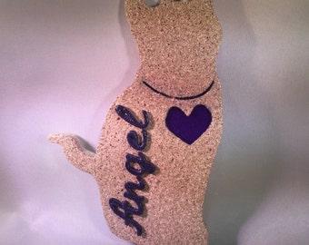 Personalized Cat Silhouette Ornament (Pebble)