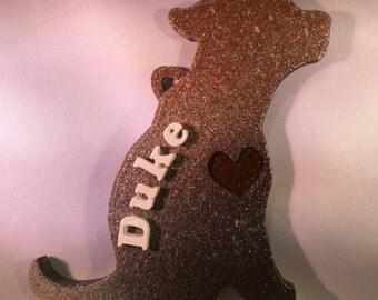 Personalized Dog Silhouette Decoration (Multicolor)